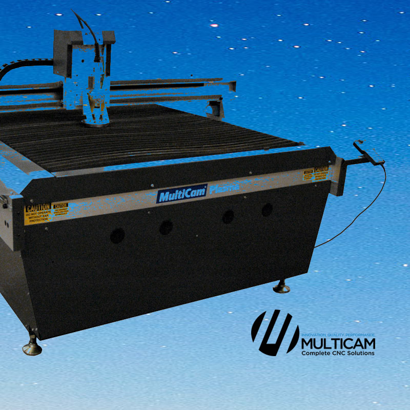 Multicam CO2 Laser, Plasma, Router and WaterJet